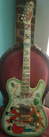 The only Gibson-Fender collaboration ever: Beatles Telecaster.