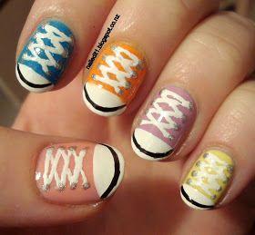Nailed It NZ: Converse shoes/chucks take two nail art