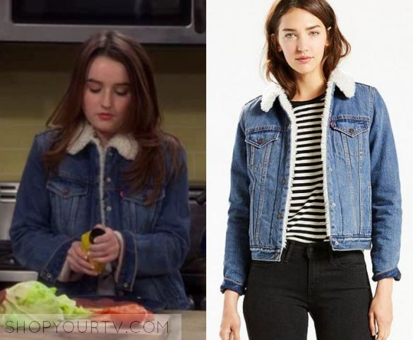 """Last Man Standing: Season 6 Episode 20 Eve's Sherpa Denim Jacket 