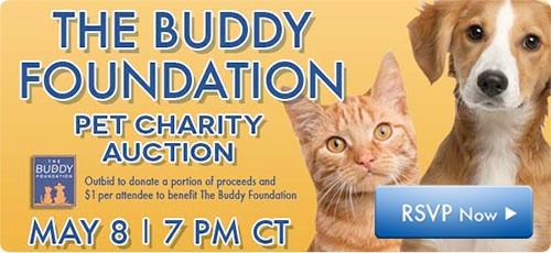 Today's the day for The Buddy Foundation Pet Charity Auction! Sign up for free on Outbid.com, RSVP, share and attend the auction tonight at 7pm CT! https://www.outbid.com/auctions/12228