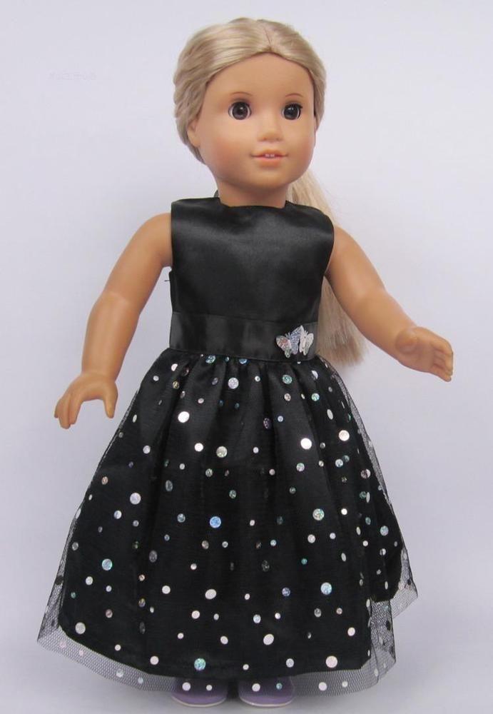 2016 black fashion cute clothes dress for 18inch American girl doll party b28 #zwsisu