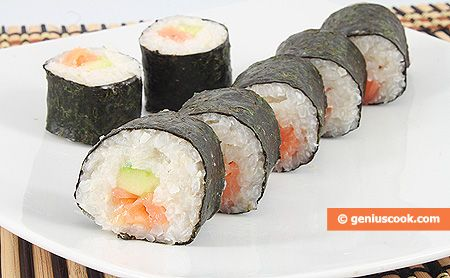Making Sushi with Smoked Salmon | Dietary Cookery | Genius cook - Healthy Nutrition, Tasty Food, Simple Recipes