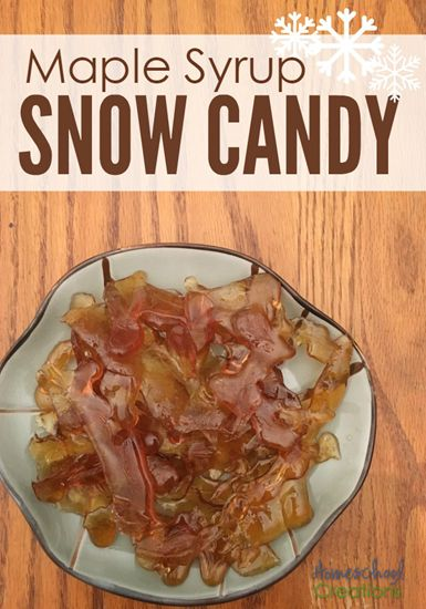 Maple Syrup Snow Candy Recipe - Made like in the book Little House in the Big Woods