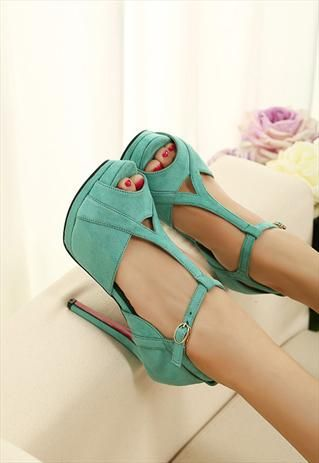 high heel #shoes in turquoise