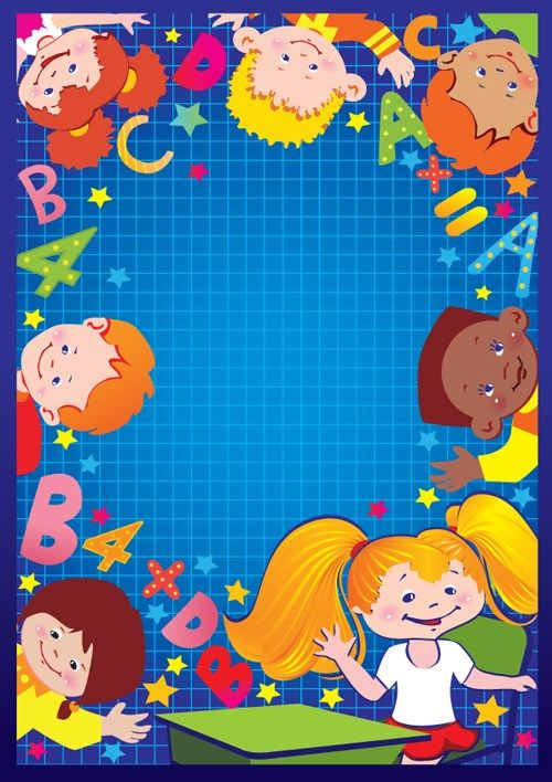 Set of Cute School children design vector 04