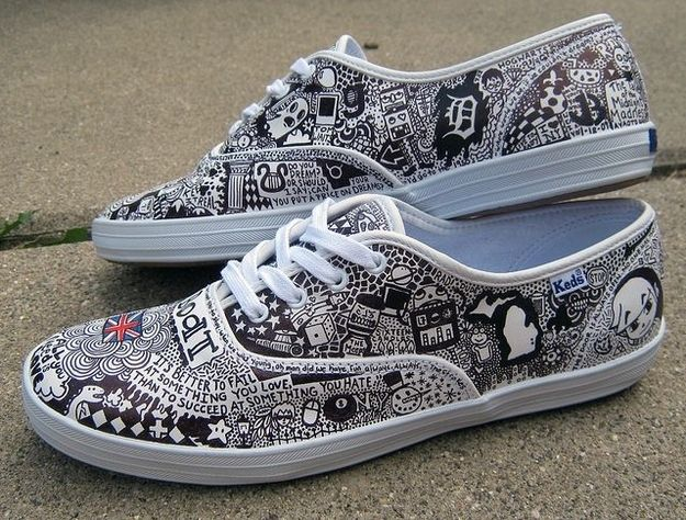 vans shoes drawing. 16 pairs of creatively sharpied shoes from pinterest vans drawing