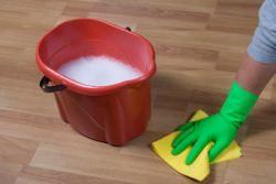 Per la pulizia: tre litri d'acqua, un quarto di bicchiere d'aceto e tre cucchiai di alcol