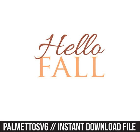 Hello Fall clip art, Svg, Cricut Cut Files, Silhouette Cut Files  This listing is for an INSTANT DOWNLOAD. You can easily create your own clip art projects. Can also be used with the silhouette cutting machines or other machines that accept SVG.  It includes 1 zip folders ** Includes png