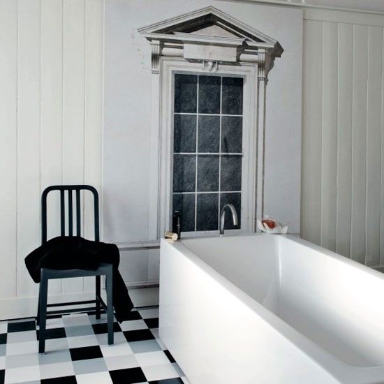 Monochrome motif bathroom | Modern bathroom | Bathroom design ideas | PHOTO GALLERY | Livingetc | Housetohome.co.uk