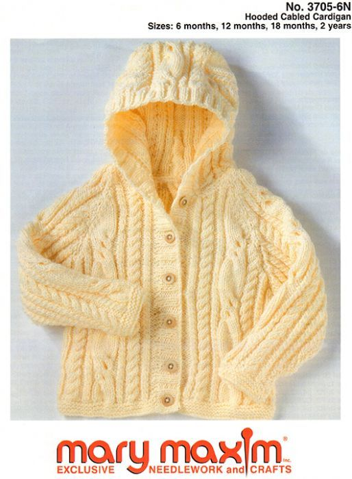 0477a02bc Hooded Cabled Cardigan Pattern