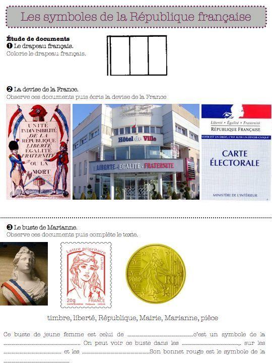 les symboles de la République française-ce1 - Dans ma classe, il y a...