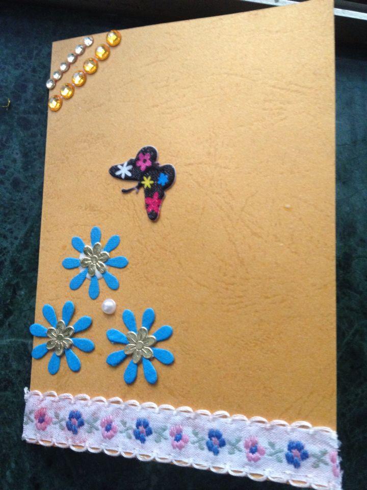 Handmade greeting card for teachers day