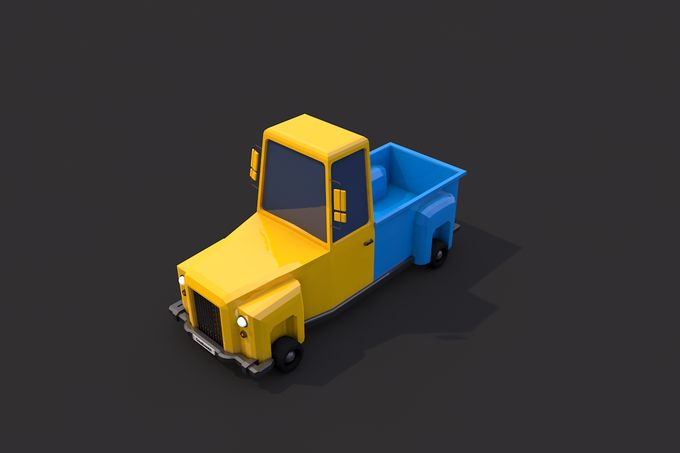 Low Poly Truck by CreativeeArt on @creativemarket