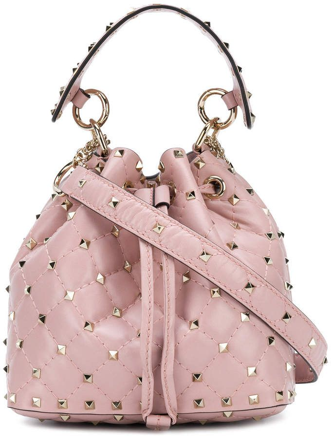 aabaad23d05 Valentino small Rockstud bucket bag - Valentino Garavani Pink Purse ...