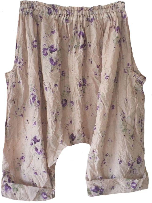 Magnolia Pearl: Blackberry rose print cotton Gertie Pants