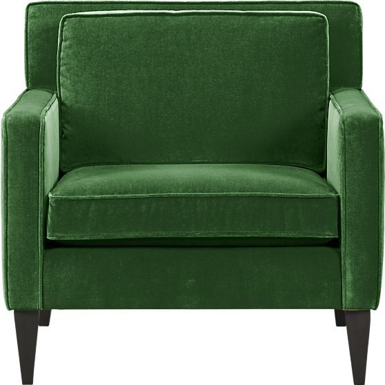 Emerald green is a great accent color this season!  Rochelle Chair in Chairs | Crate and Barrel
