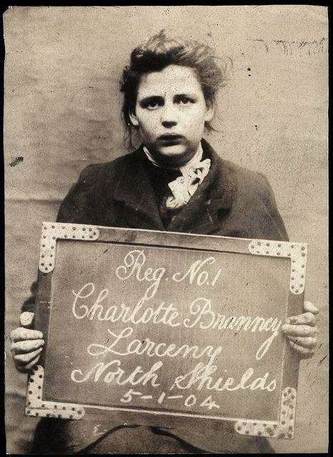 Edwardian mugshot: Photos, Criminal Woman, Edwardian Mugshots, Charlotte Branney, 1903 1904, Vintage Photographers, Mugs Shots, Vintage Lady, North Shield