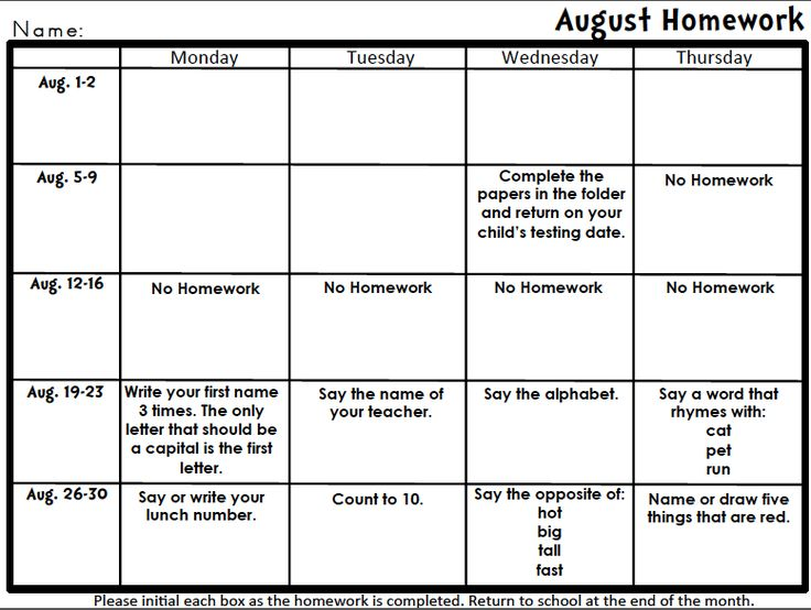 Best 25+ Homework Calendar Ideas On Pinterest | Kindergarten