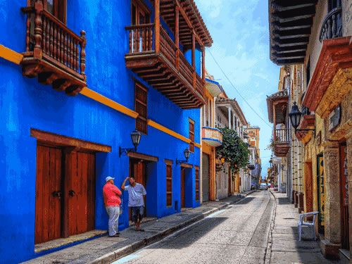 historic colonial center of Cartagena, Colombia