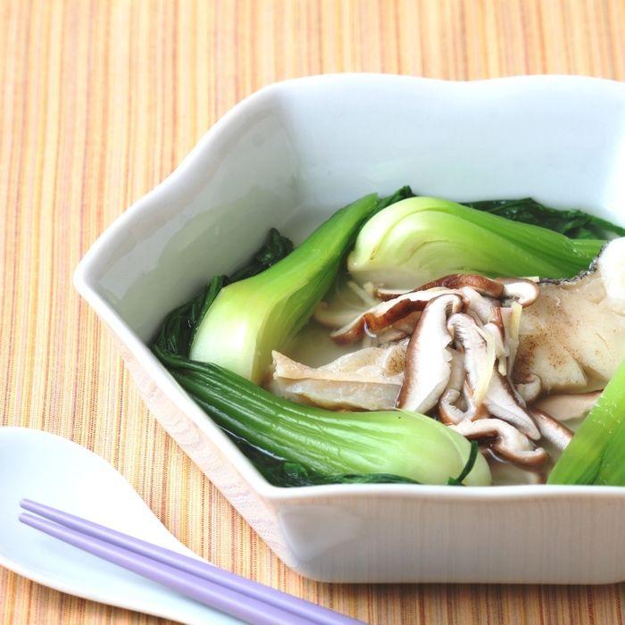 【夏休みママ救済レシピ】火を使わない8月のおかず30 ⑦蒸しだらと青菜の中華浸し   ベジテーブル