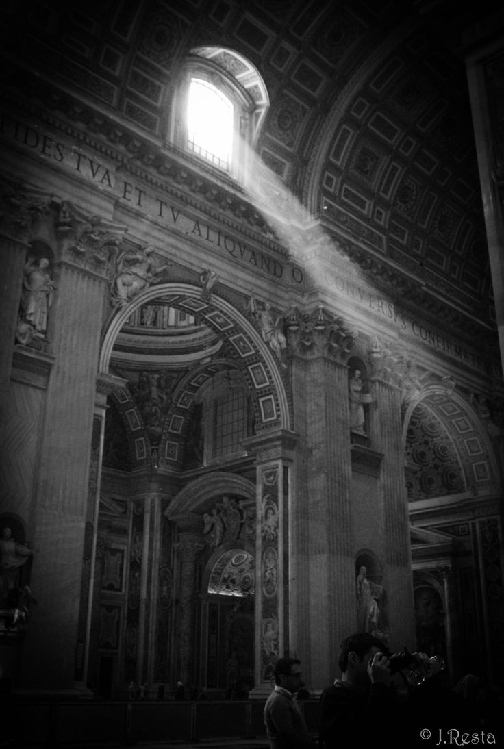 There's nothing quite like the light that shines from these windows  St Peter's Basilica, Roma