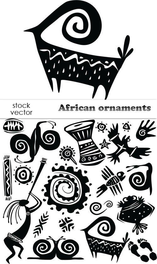 Африканские рисунки, орнаменты - вектор