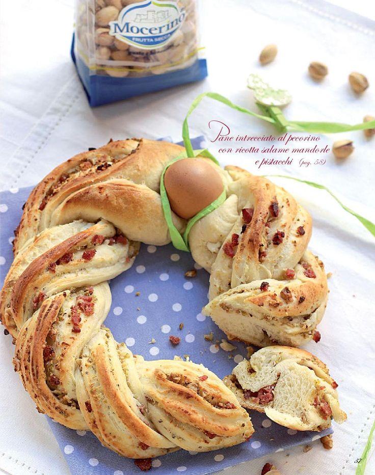 Pane intrecciato al pecorino