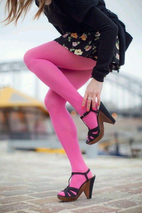 I can't wait to wear my pink tights !
