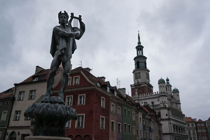 Apollo Fountain in Poznan, Poland.