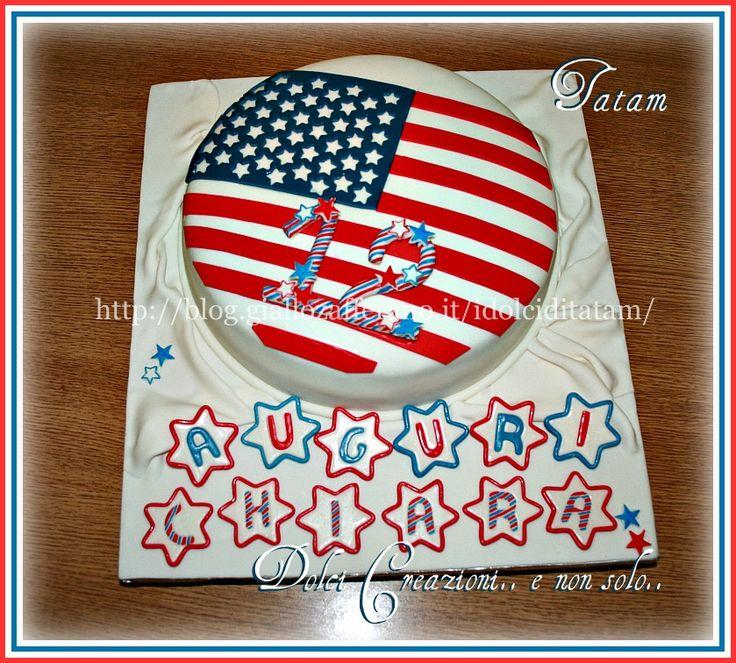 American Flag Cake   torta decorata   Dolci Creazioni tatam