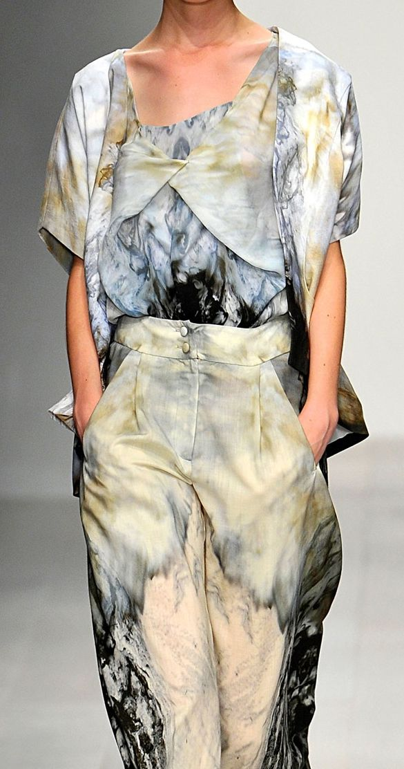 simple and complicated all in one textile/silhouette vibing marbling on fabric