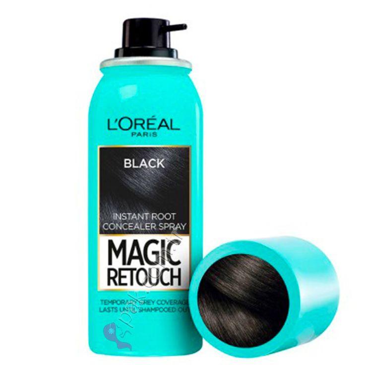 L'Oreal Paris Beyaz Saçlar için Anında Kapatıcı Siyah Saç Spreyi - Magic Retouch 01
