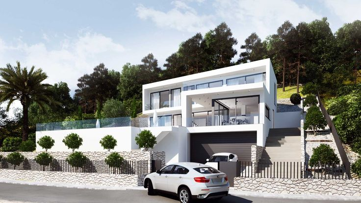 Javea House exterior view, right side