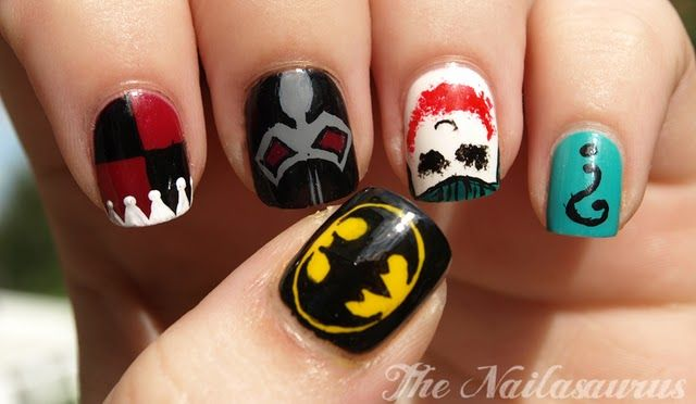 Batman nails: Nailart, The Jokers, Dc Comic, Comic Book, Beauty, Nail Art, Batman Nails Art, Nails Designs, Harley Quinn