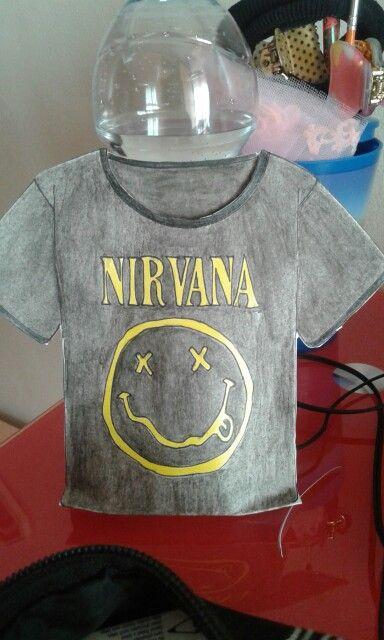 Busta maglietta dei Nirvana