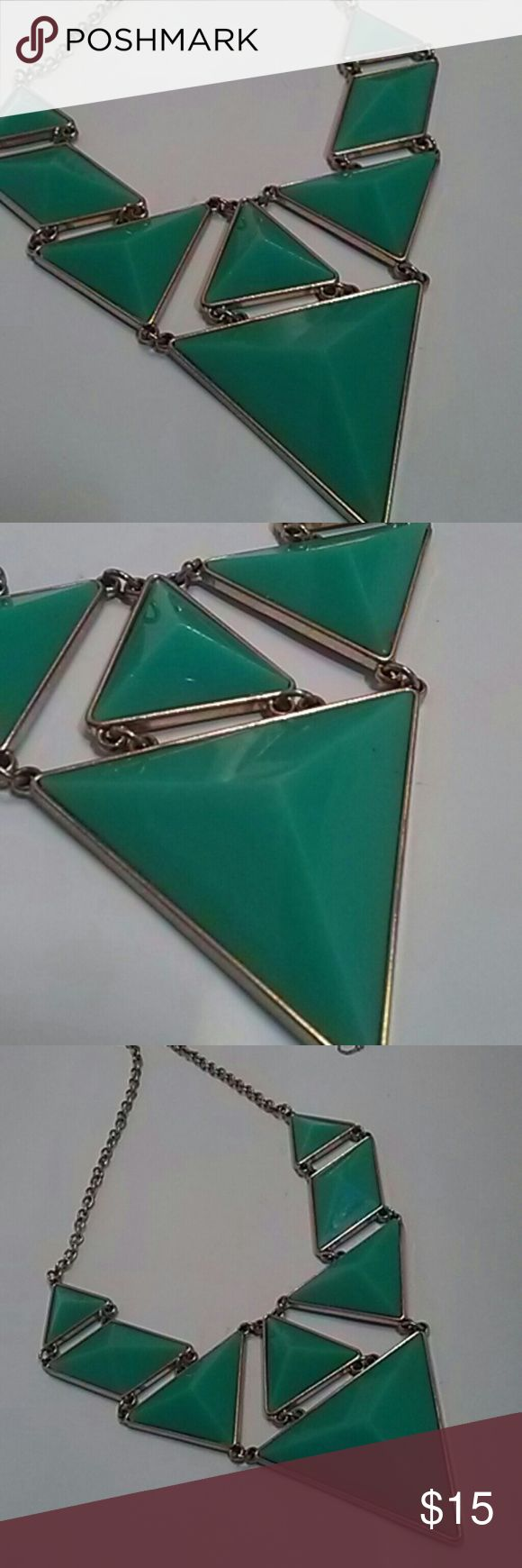 Teal Green Statement Necklace Chunky and Bold Teal Green Statement necklace Jewelry Necklaces