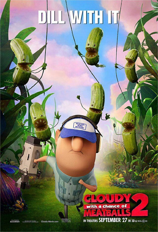 High Resolution Official Theatrical Movie Poster Of For Cloudy With A Chance Meatballs 2 Image Dimensions 1396 X Starring Bill Hader Anna Faris