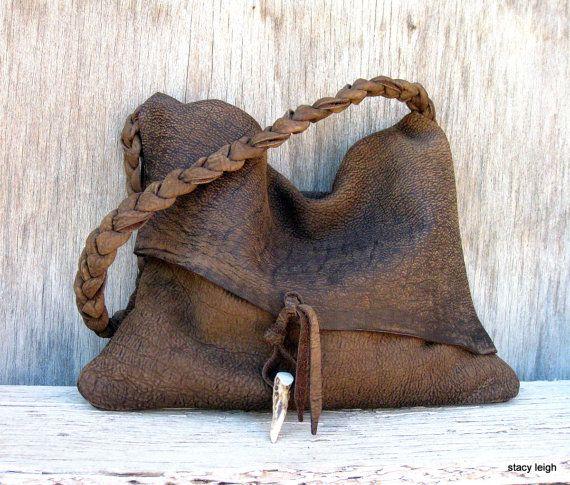Rustic Brown Leather Bag
