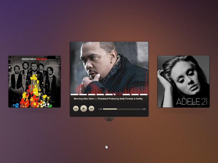Media Player are being a BOOOM or Im just seeing too much... Via: http://drbl.in/dZPO #ui #media #player #design #webdev #music #adele