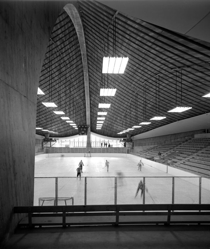 Yale Hockey Rink, Eero Saarinen Architect, 1958,