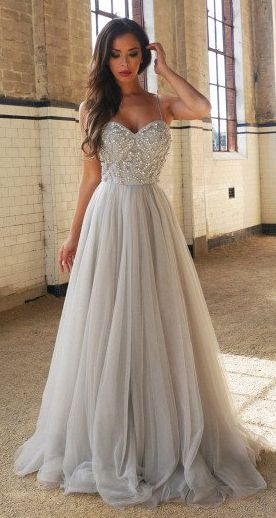 New Arrival Sweetheart Prom Dress,A-Line Prom Dresses,Spaghetti Straps Prom Gown,Floor-Length Prom Dress with Beading,Long Formal Dress,Sleeveless Tulle Prom Dress