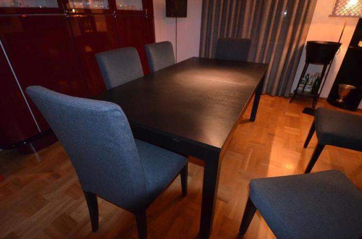 Ich verkaufe hier einen ausziehbaren Esstisch in dunkelbraun/schwarz. Dieser wurde aufgebaut...,Esstisch - ausziehbar, massiv in Rheinland-Pfalz - Heimbach