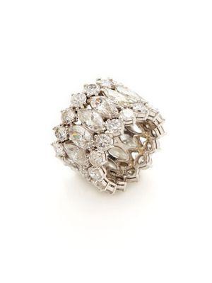 Diamond Band Ring-- LOVE