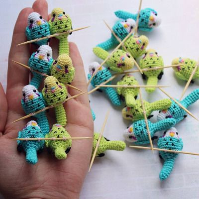 "celadondove: ""knithacker: ""Budgie, Budgie, Budgie Starts With B … tiny budgies by Alena Serebryanska. #budgie #crochet #diy #handmade iloveyarn #instayarn #yarnlove #yarngasm #yarnstagram #knithacker #yarnaddict #craft #crafts #geekery #crochetlovers..."
