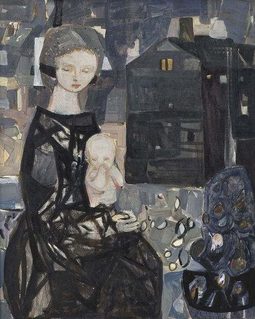 amare-habeo: Kai Fjell (Norwegian, 1907-1989) Mother and child,...