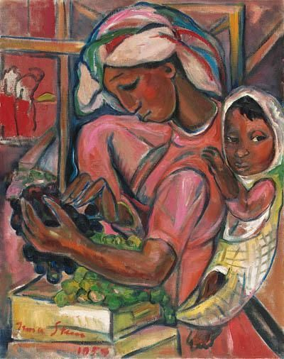 Grape Packers, by Irma Stern (South African, 1894-1966)