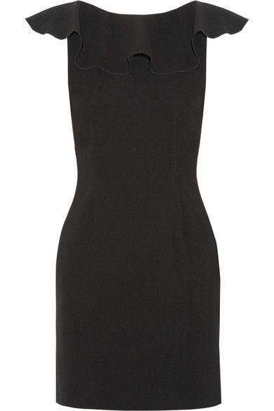 Rachel Zoe - Deandrea Lace-paneled Ruffled Crepe Mini Dress - Black - US12
