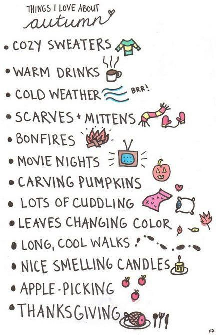 Best things of autumn