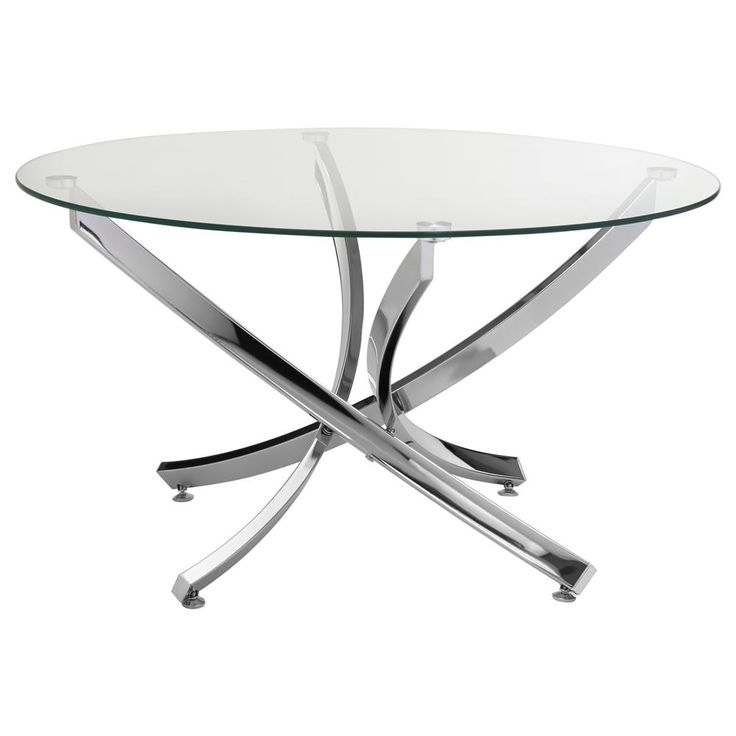 Round Coffee Table with Tempered Glass Top/Coffee Tables & Side Tables/Furniture|Bouclair.com