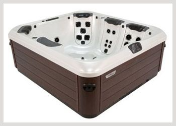 Bullfrog A6L The A6L is a space-saving 4 person hot tub that provides nearly all the features of larger spas. Though it's called a 4 person hot tub, the A6L can actually seat up to 6 people, yet it will still fit on most decks, balconies and patios. The A6L features your choice of JetPaks in 4 seats and a comfortable bent-knee lounger with therapeutic calf and foot jets. #WheatlandFireplace #BullfrogSpas
